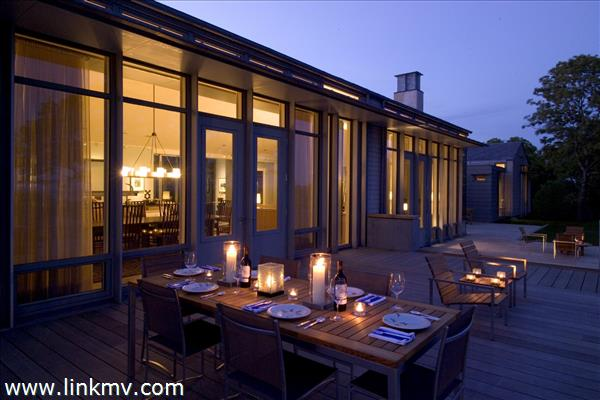 Evening entertaining on the outdoor terraces