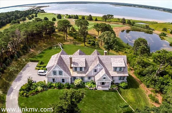 Property View From The Air With Sengekontacket Pond & Nantucket Sound Views