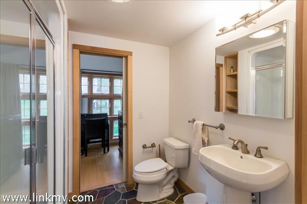 Main floor master suite full bath.
