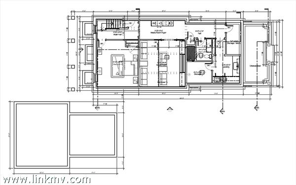 Main house first floor plan