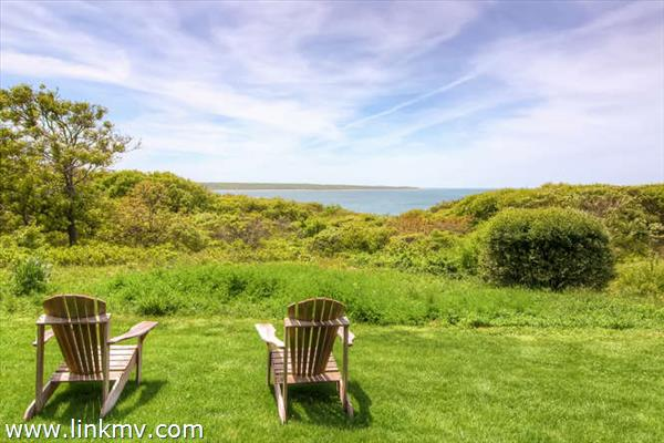 Home overlooks the Vineyard Sound out to Aquinnah and the Elizabeth Islands