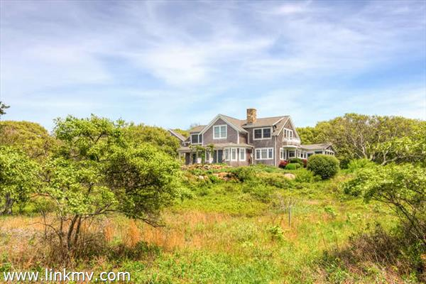 Exquisite custom home on 5.6 pristine Chilmark acres
