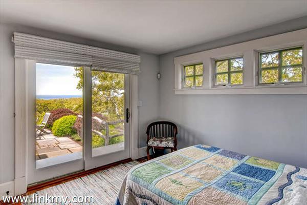 First floor bedroom with water views