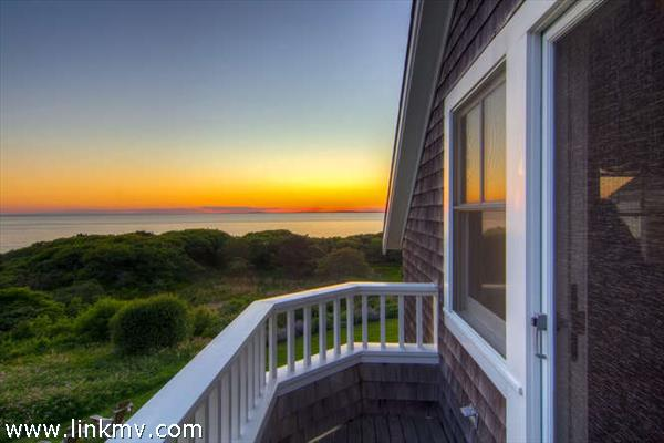 Watch the sun set over the Vineyard Sound and the Elizabeth Islands
