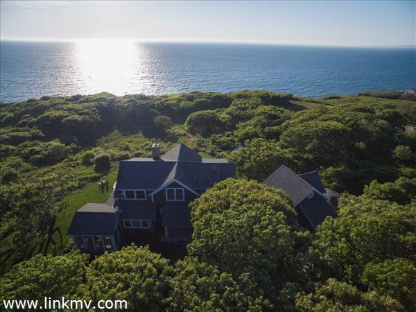 Menemsha waterfront house and guest studio with magnificent water views