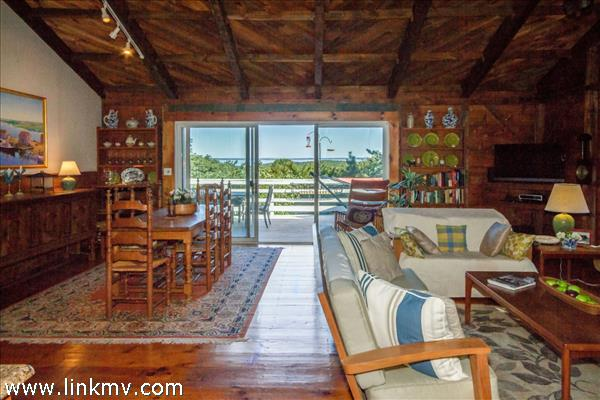 Picturesque views of the Vineyard Sound from the moment you walk into the house.