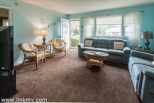 Spacious bright living room as you enter.