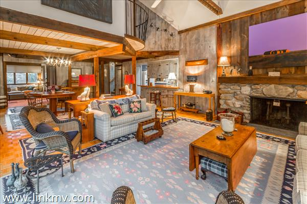 Across Living room towards the den