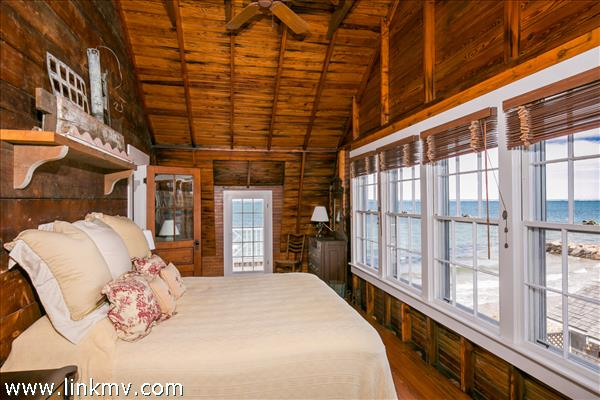 Master bedroom suite with views of Vineyard Sound and Crystal Lake