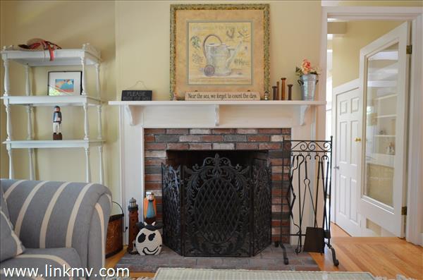 one of 2 wood burning fireplaces!