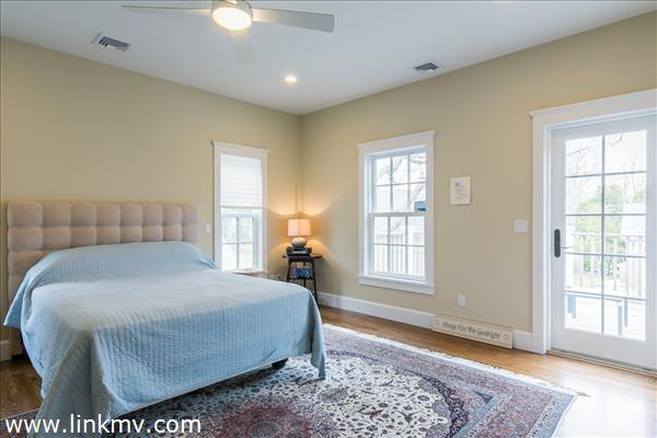Master bedroom with private porch
