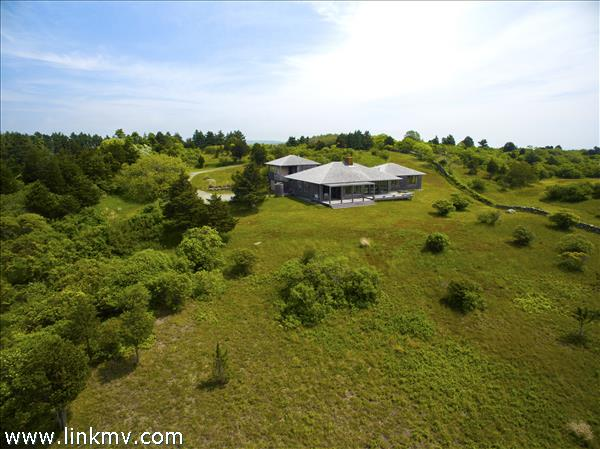 Birds eye view of the property
