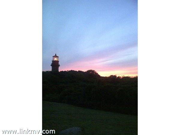 Gorgeous Sunset at Gay Head Lighthouse as Seen from Deck