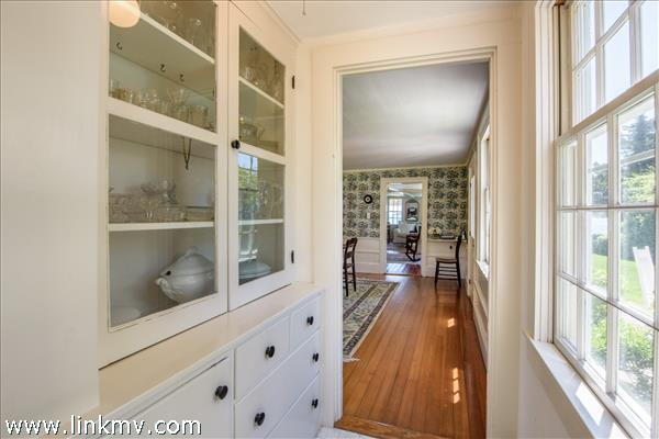 View through the pantry to the dining room.