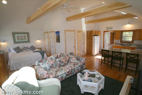 Open and Airy, the Guest House has a Great Studio Floor Plan.