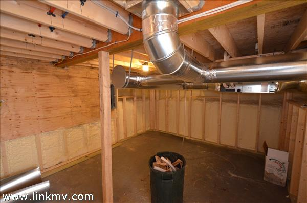Partial Basement with Duct super insulated