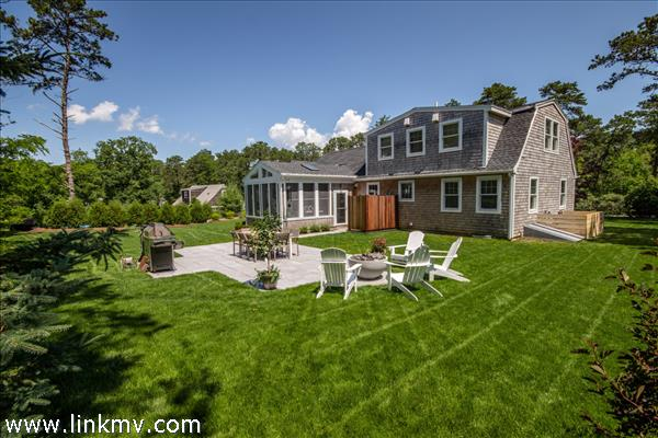 Private, manicured large back yard where you will do all your summer entertaining...