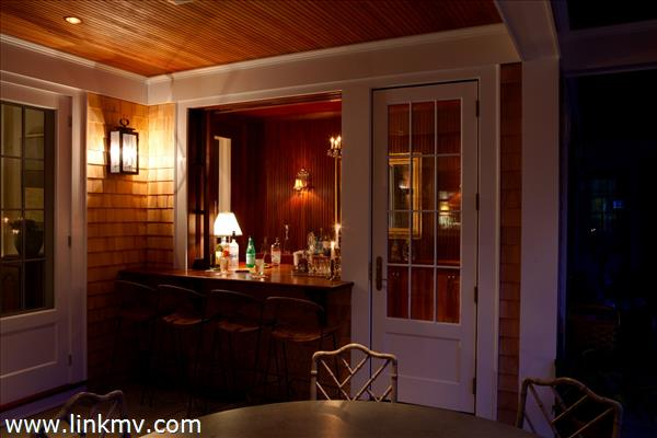 Inside/Outside Bar on Porch for outside living and dining