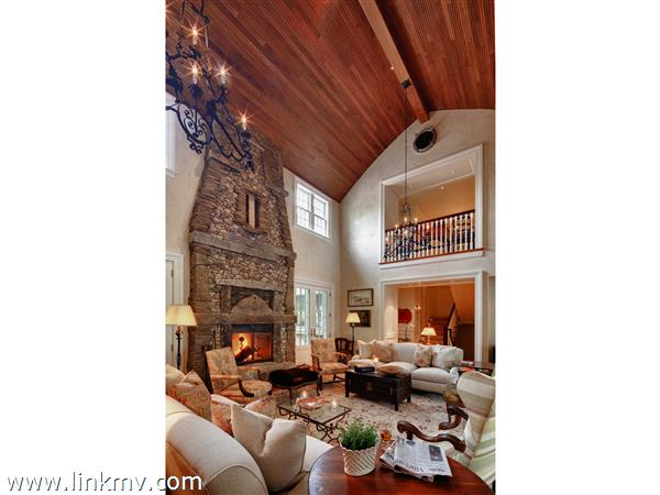 Living Room with beautiful Lew French fireplace