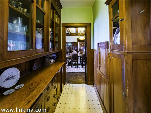 Butlers Pantry looking into dining room