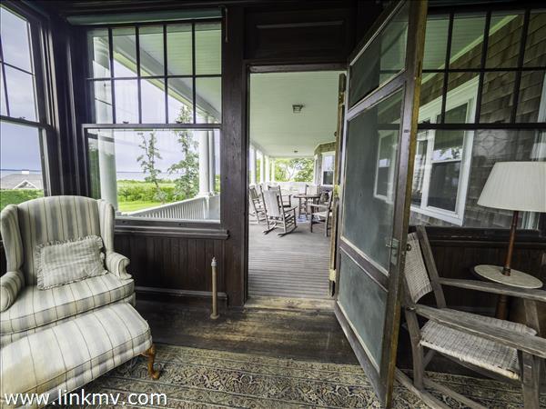 looking from sun porch to veranda